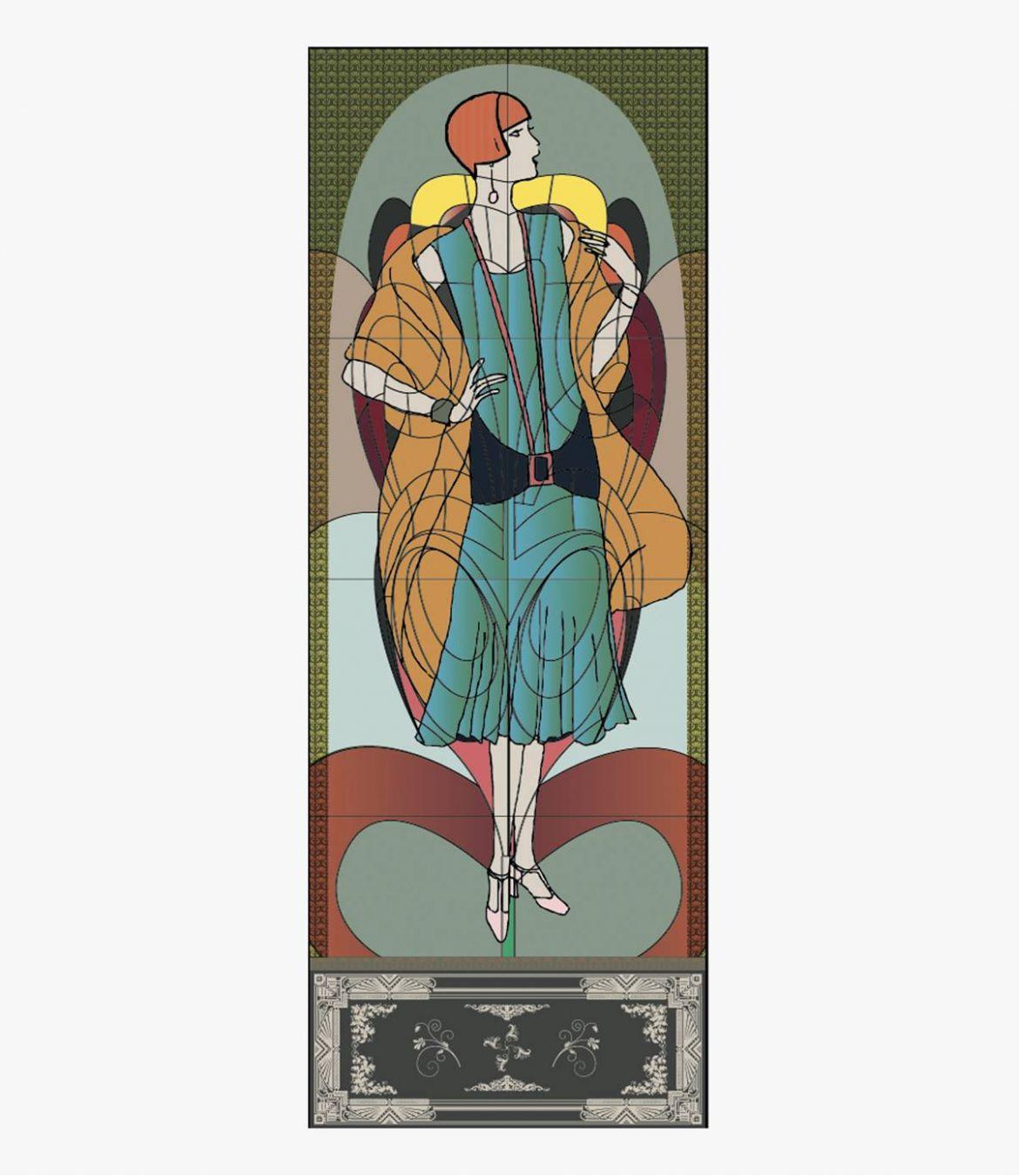 GISEL Echarpe en Laine, soie pour Femme 70 x 190 CM - 4