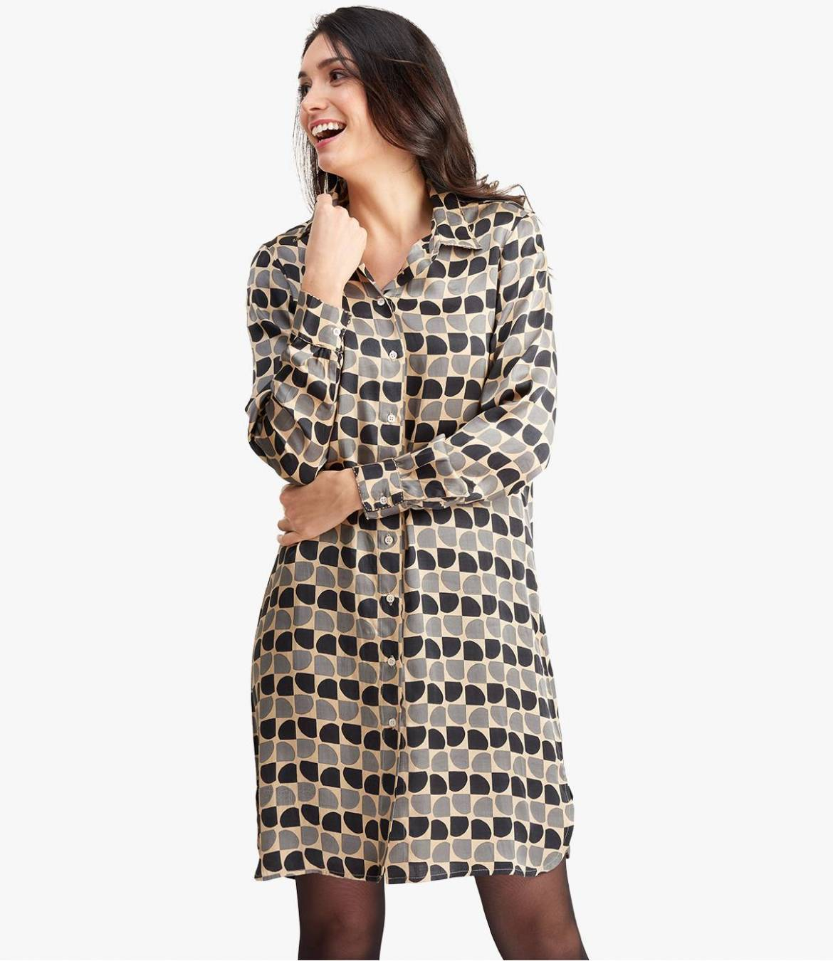KAIA ARTY Robe en Modal satin pour Femme - 4