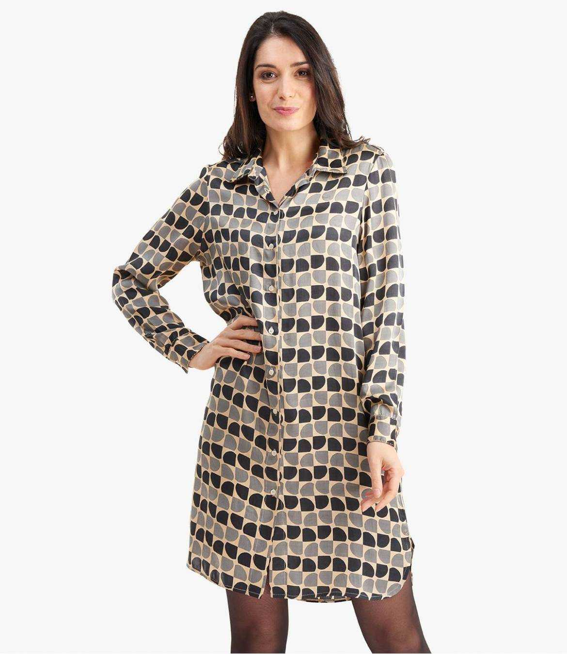 KAIA ARTY Robe en Modal satin pour Femme - 5