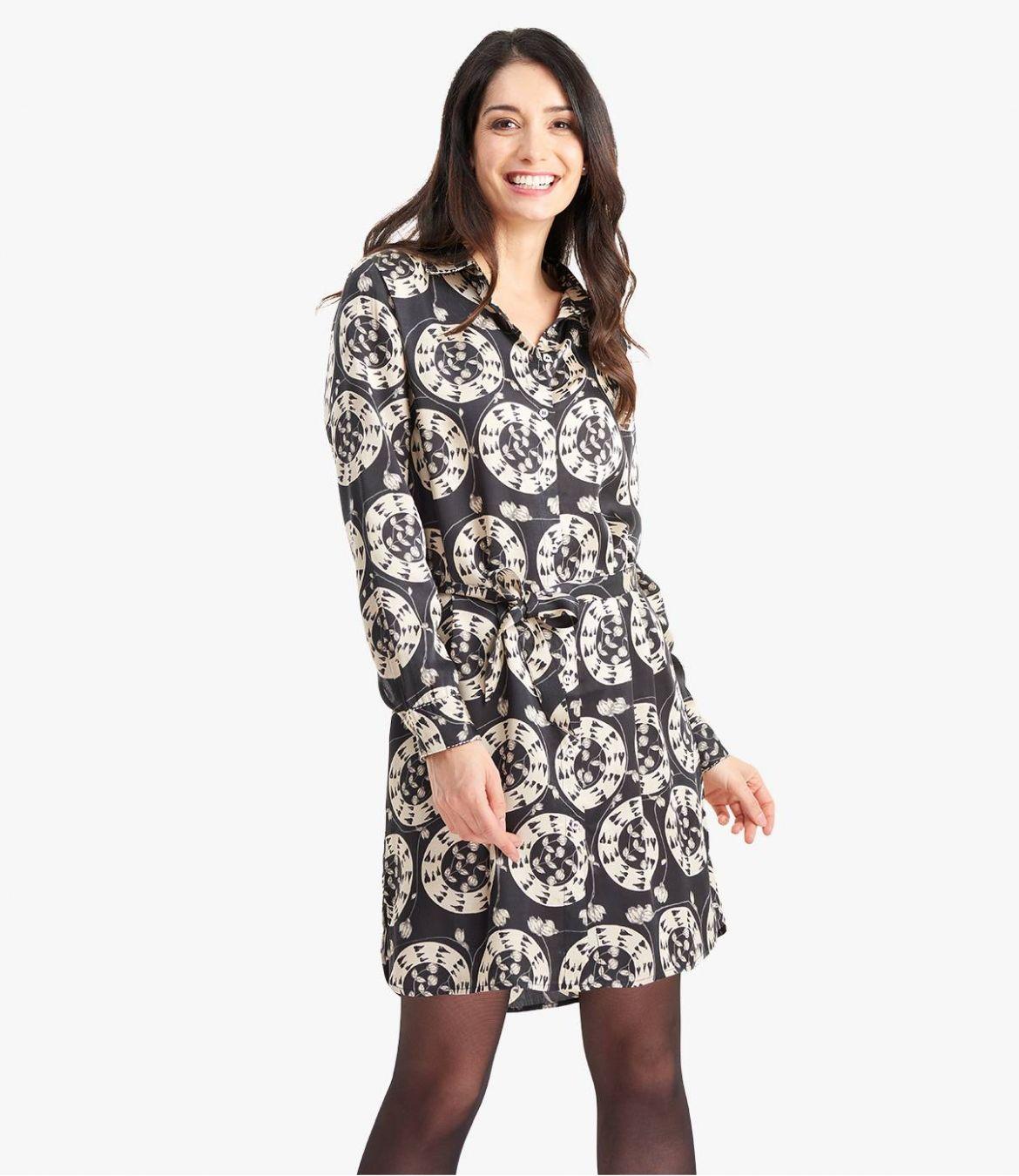 KAIA EVE Robe en Modal satin pour Femme - 1