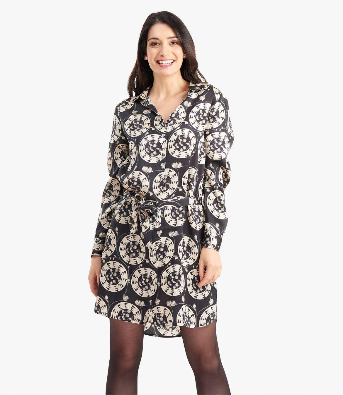 KAIA EVE Robe en Modal satin pour Femme - 2