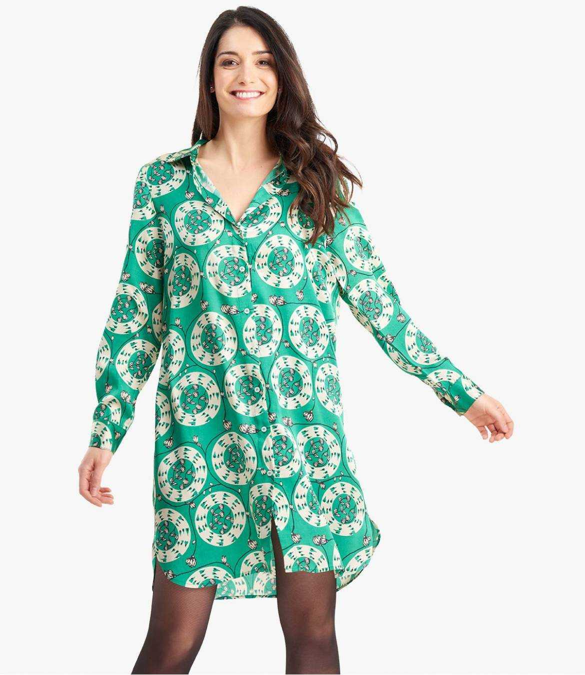 KAIA EVE Robe en Modal satin pour Femme - 12