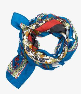 ARIEL Cotton scarf, Women's Silk 100x100 cm Storiatipic - 3