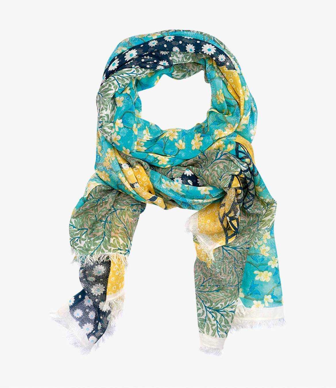 DEBBIE Cotton scarf, Women's Lurex 100x200 cm Storiatipic - 1