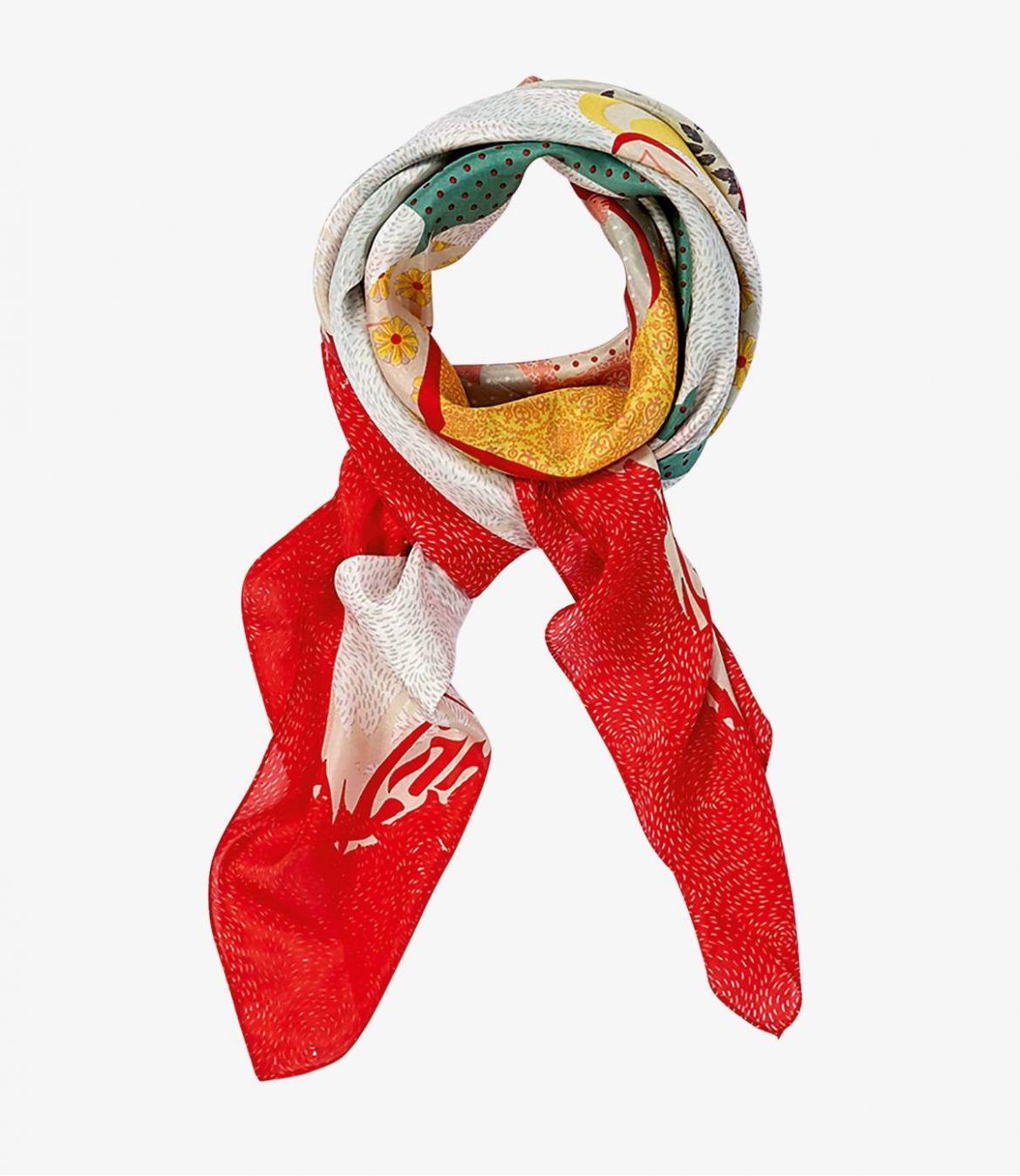DUCHESSE Women's Silk Scarf 130 x 130cm Storiatipic - 1