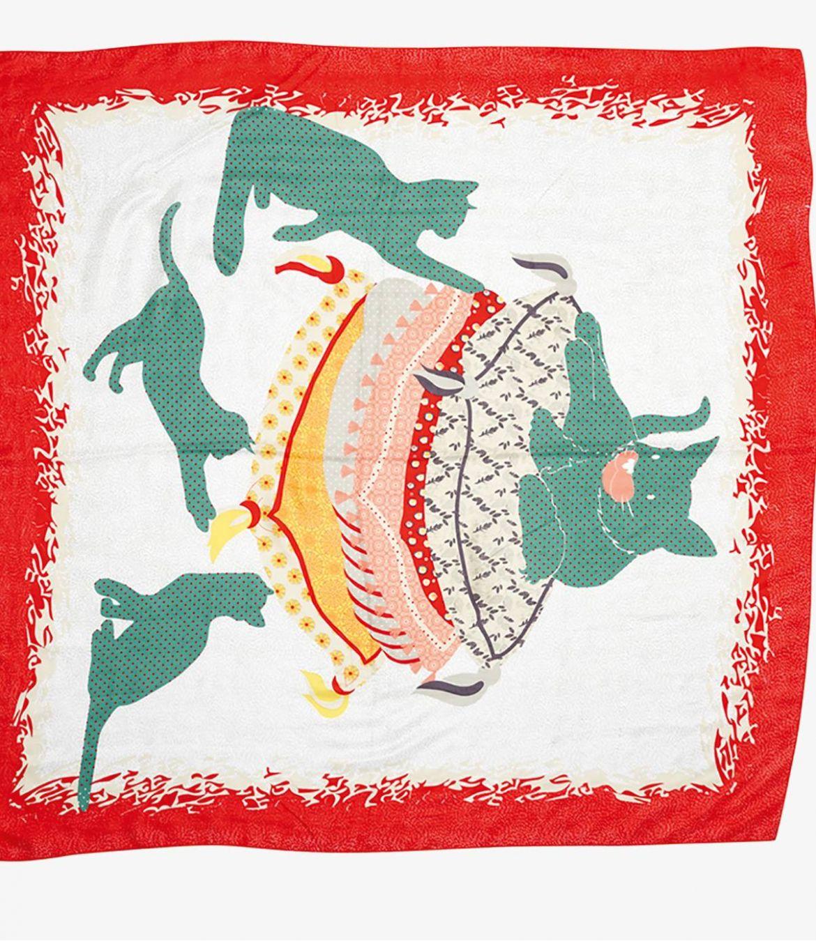 DUCHESSE Women's Silk Scarf 130 x 130cm Storiatipic - 2