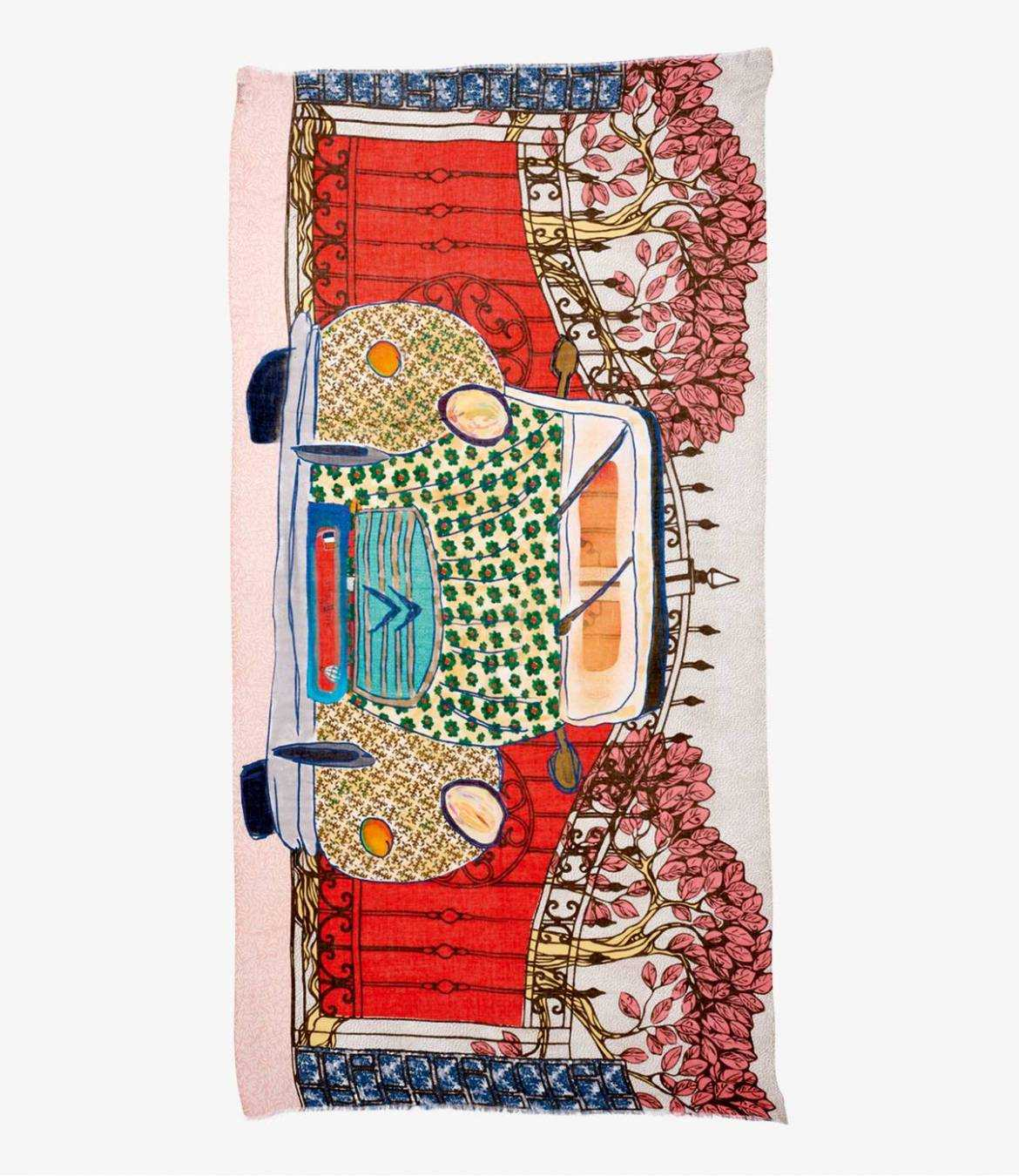 GRETA Foulard en Modal, Soie pour Femme 100x200 cm Storiatipic - 2
