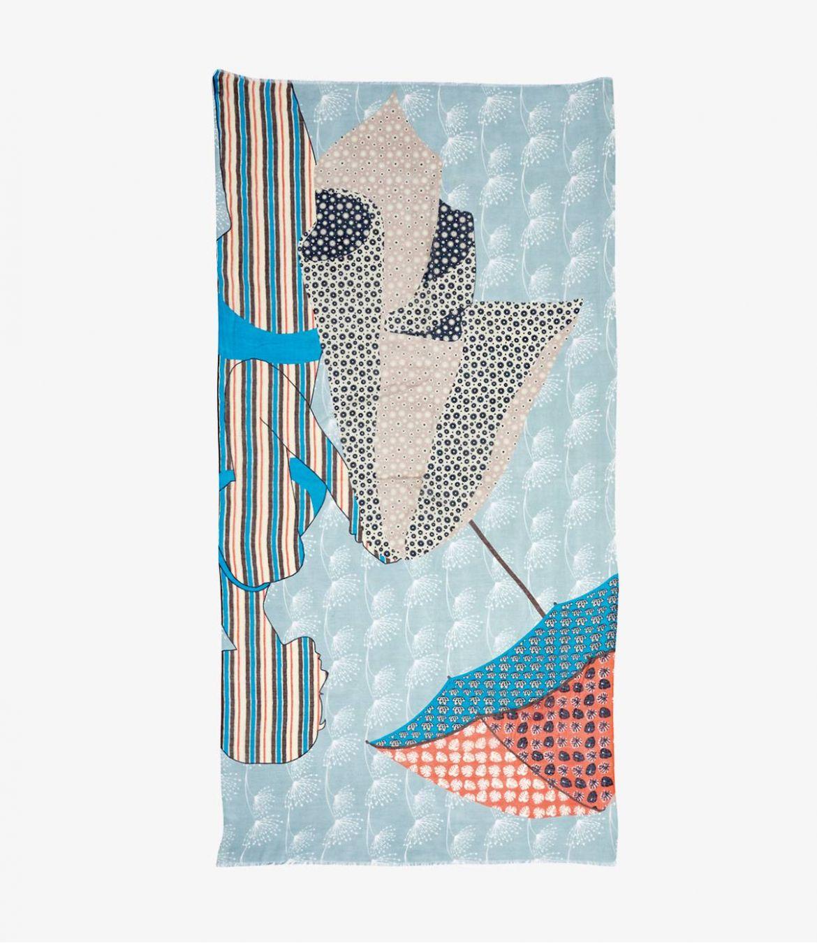 MONICA Foulard en Modal, Cachemire pour Femme 100x200 cm - 2