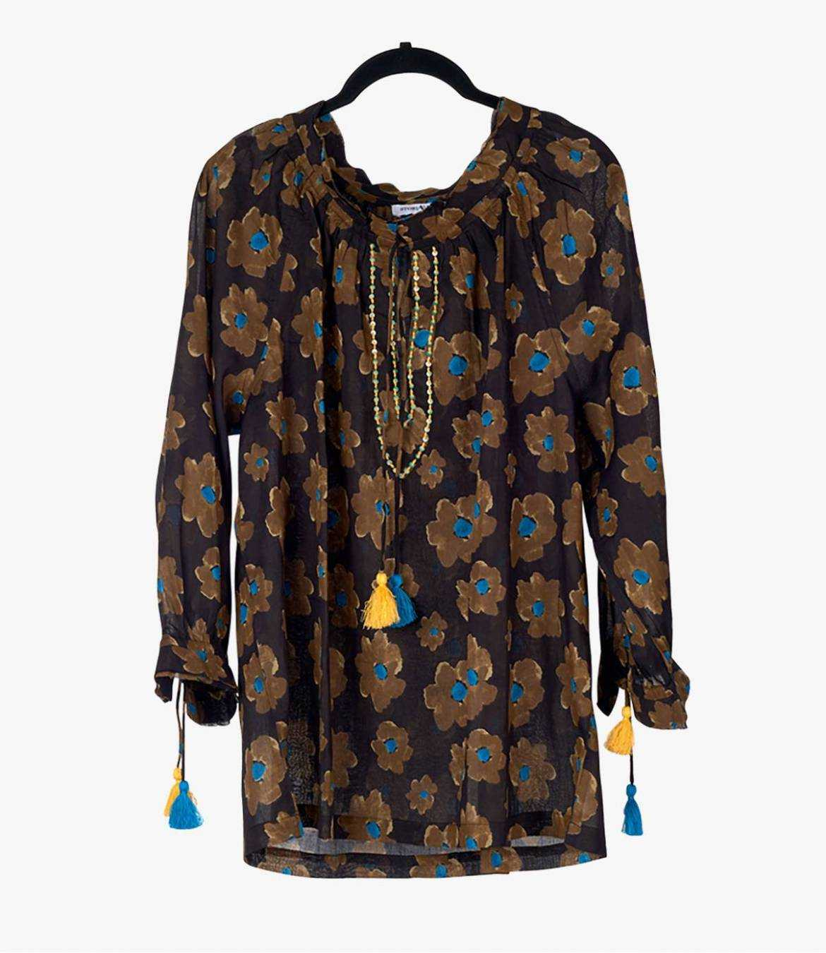 BETI ASTER Cotton Blouse for Women Storiatipic - 2
