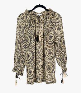 BETI SUN Cotton Blouse for Women Storiatipic - 1