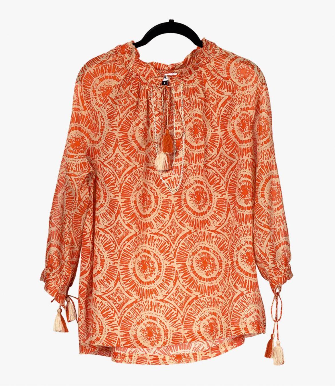 BETI SUN Cotton Blouse for Women Storiatipic - 2