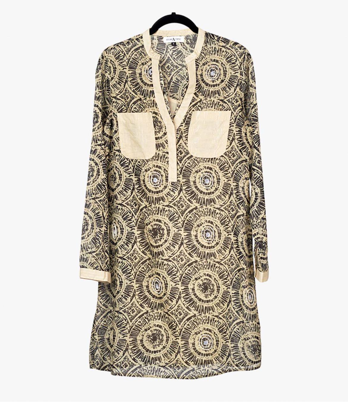 SONG SUN Cotton Dress for Women Storiatipic - 1