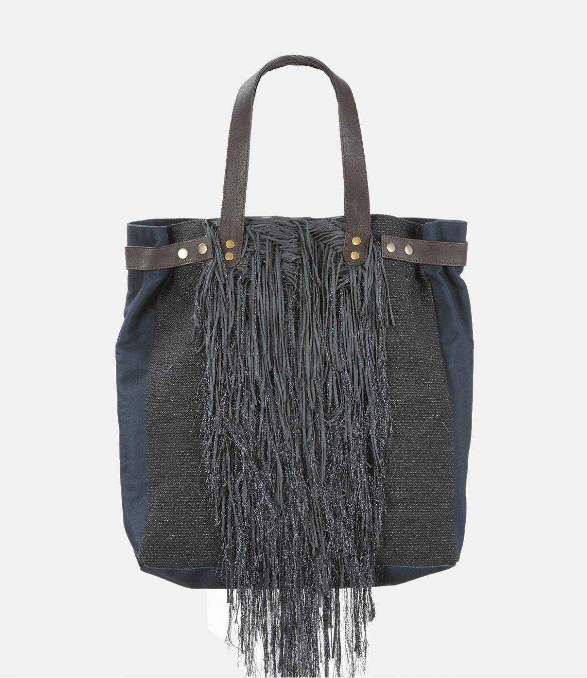 HAPPY FIBY Sac en Polyester, Polyamide, Coton, Cuir pour Femme 35 x 13 x 40 cm Storiatipic - 1