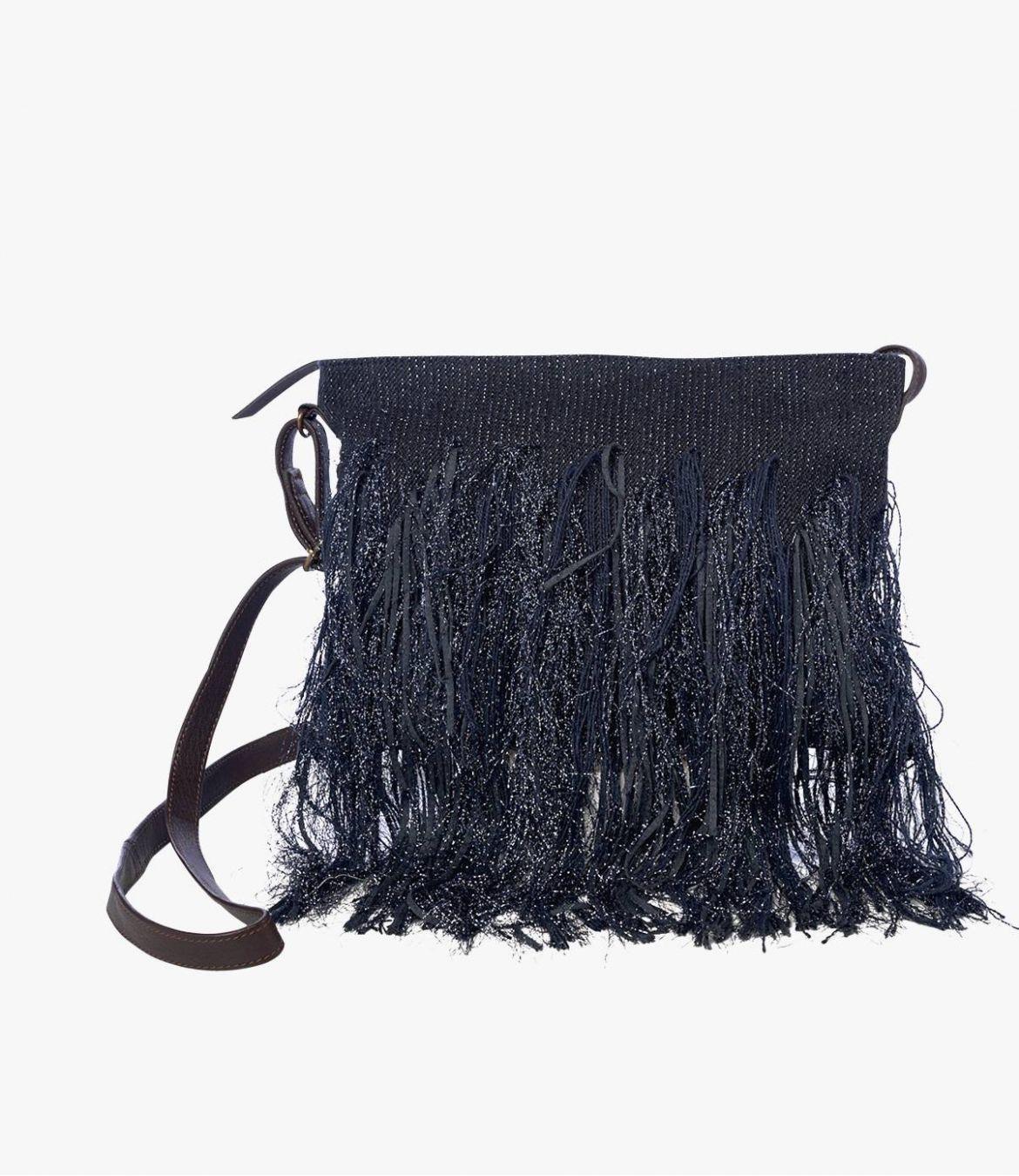 SUZY FIBY Pochette en Polyester, Polyamide, Coton, Cuir pour Femme 20 x 28 cm Storiatipic - 1