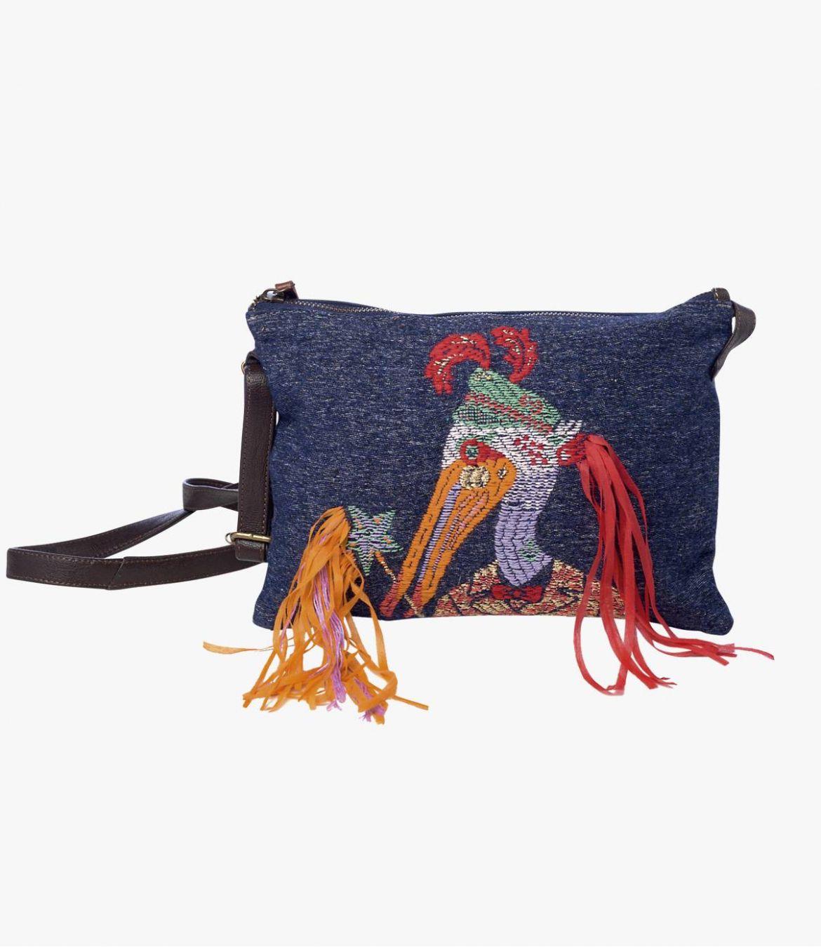 SUZY MIKO Polyester Pocket, Polyamide, Cotton, Women's Leather 20 x 28 cm Storiatipic - 1