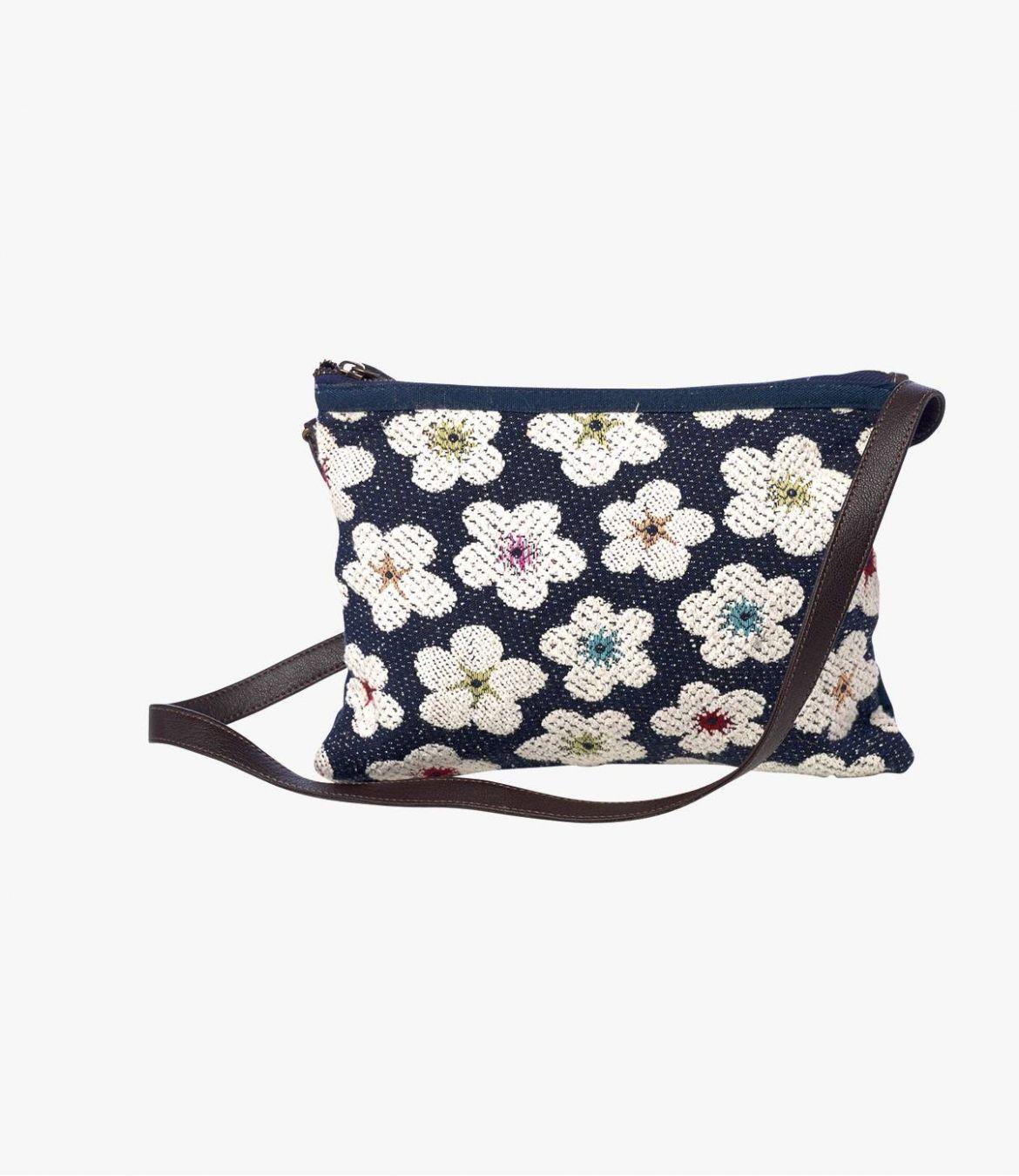 SUZY POPPY Pochette en Polyester, Polyamide, Coton, Cuir pour Femme 20 x 28 cm - 1