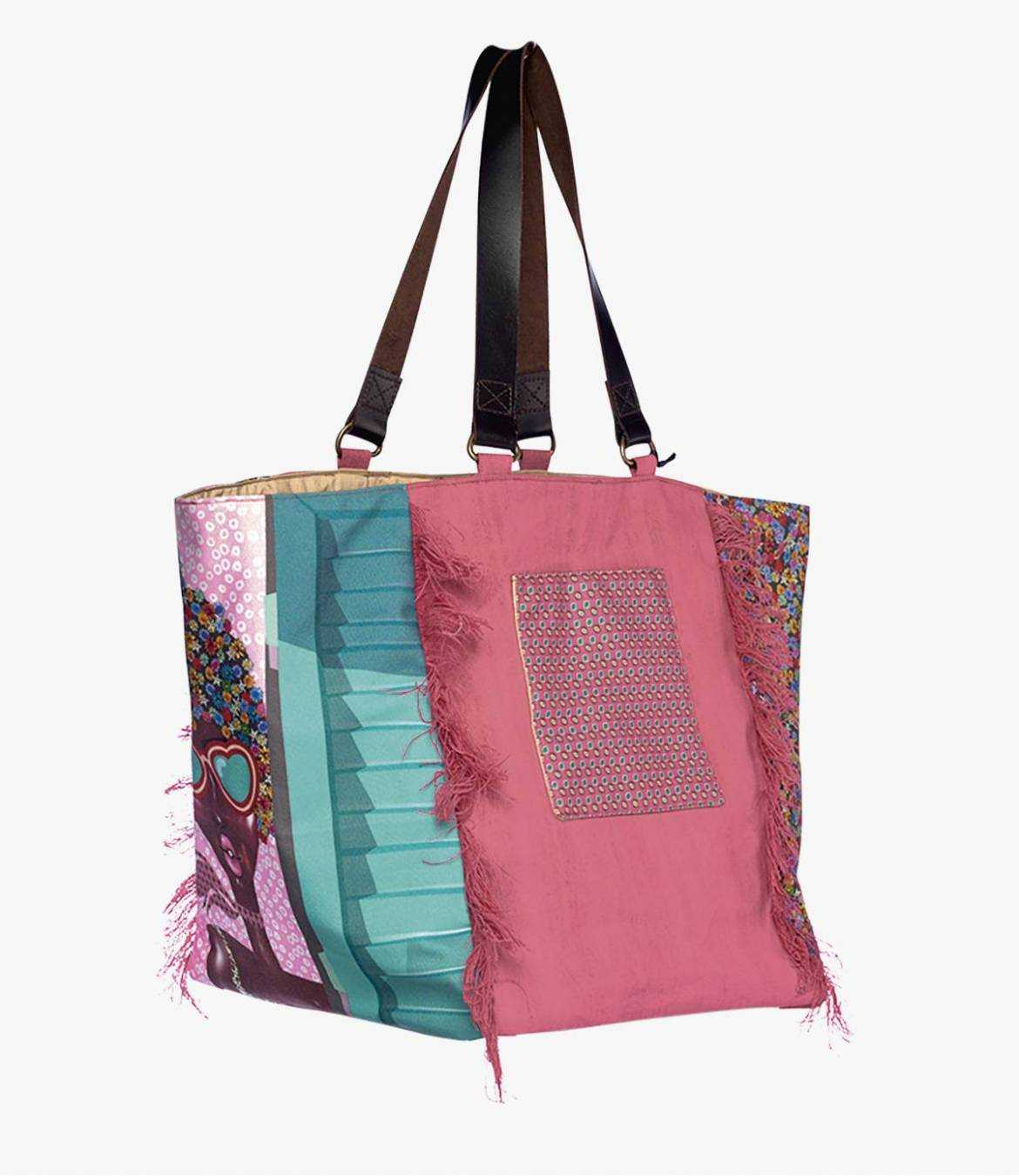 TOTE JODIE Polyester Bag, Cotton, Women's Leather 30 x 30 x 35 cm Storiatipic - 1