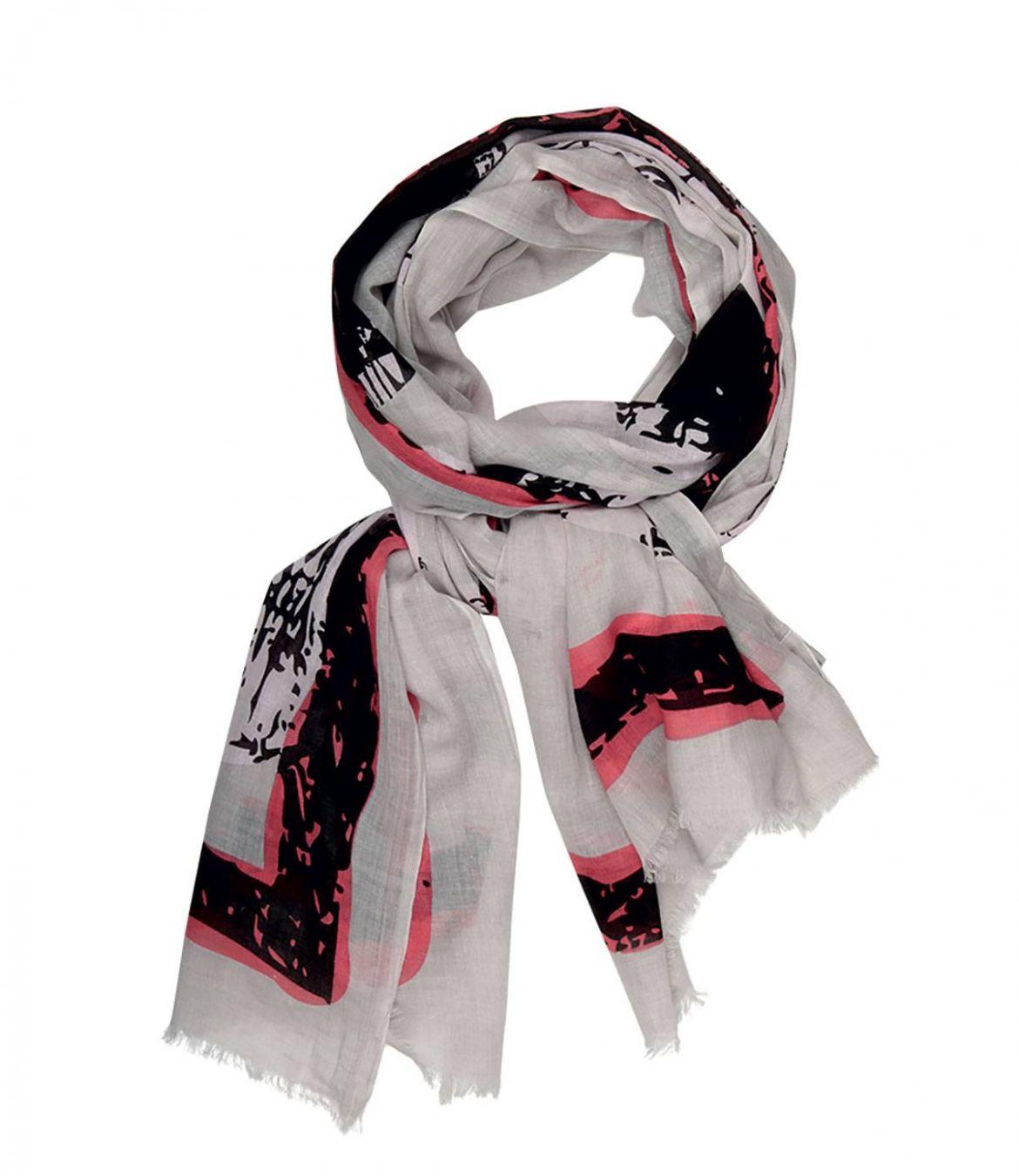 CANDY Foulard en Coton pour Femme 100x200 cm - 1