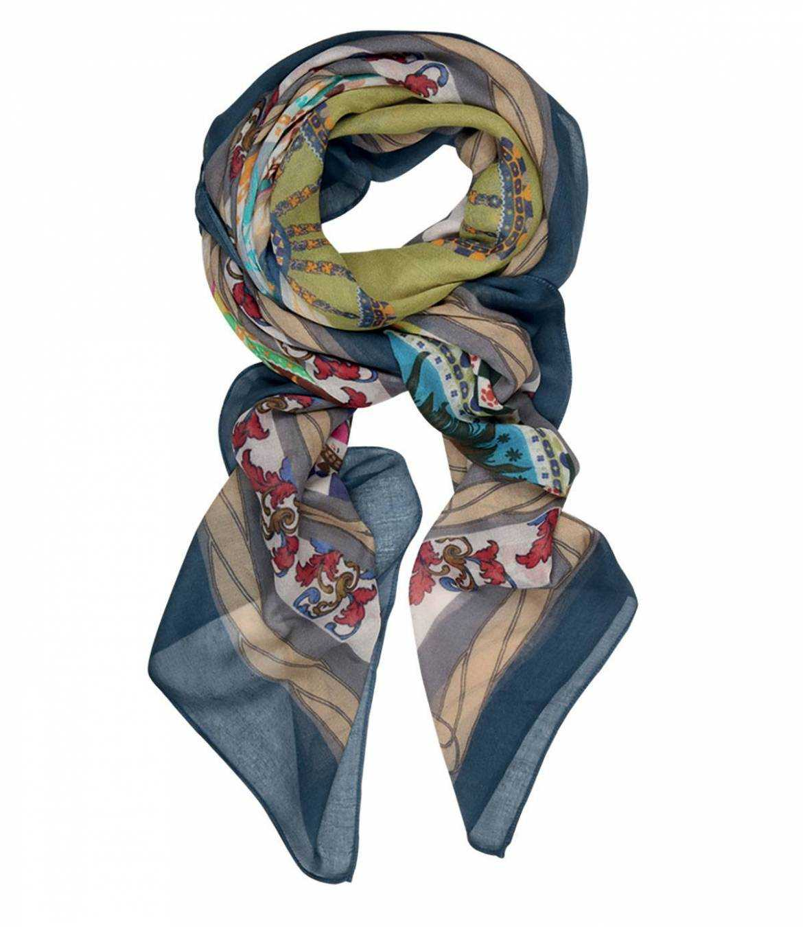 CANI Cotton scarf, Women's Modal 140 x 140 cm Storiatipic - 1