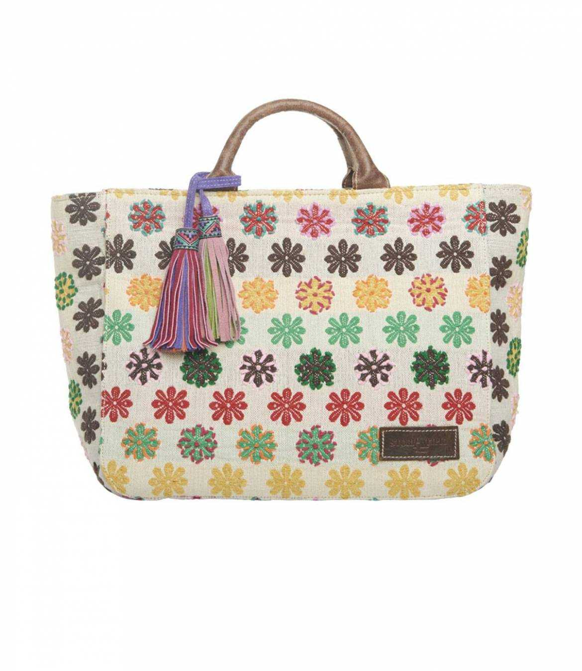 CITY Cotton Bag, Women's Leather 40x30x15 cm Storiatipic - 1