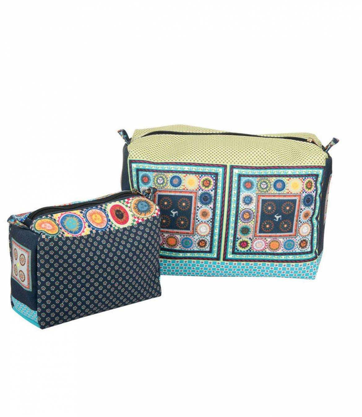 COSMETIC Women's Polyester Pouch 25x15 cm / 15x12 cm Storiatipic - 2