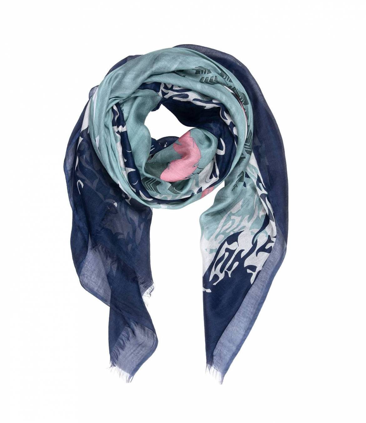 DESERT Foulard en Soie, Modal pour Femme 120x160 cm - 1