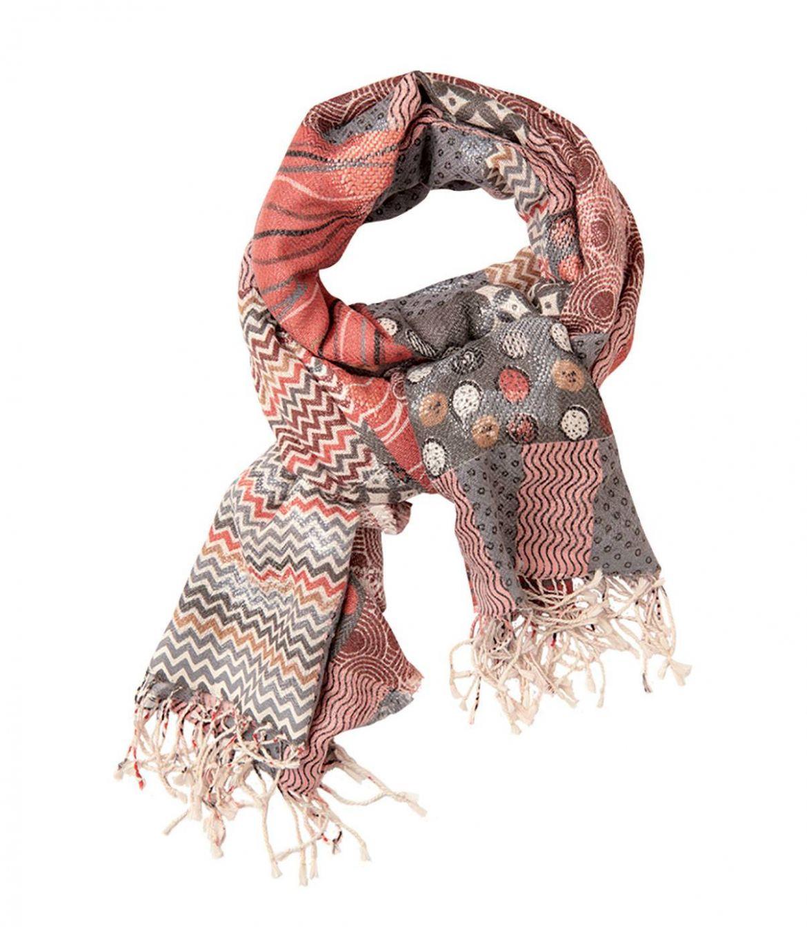 ETIC Echarpes en Laine, Acrylique, Polyester, Coton pour Femme 75x190 cm - 1