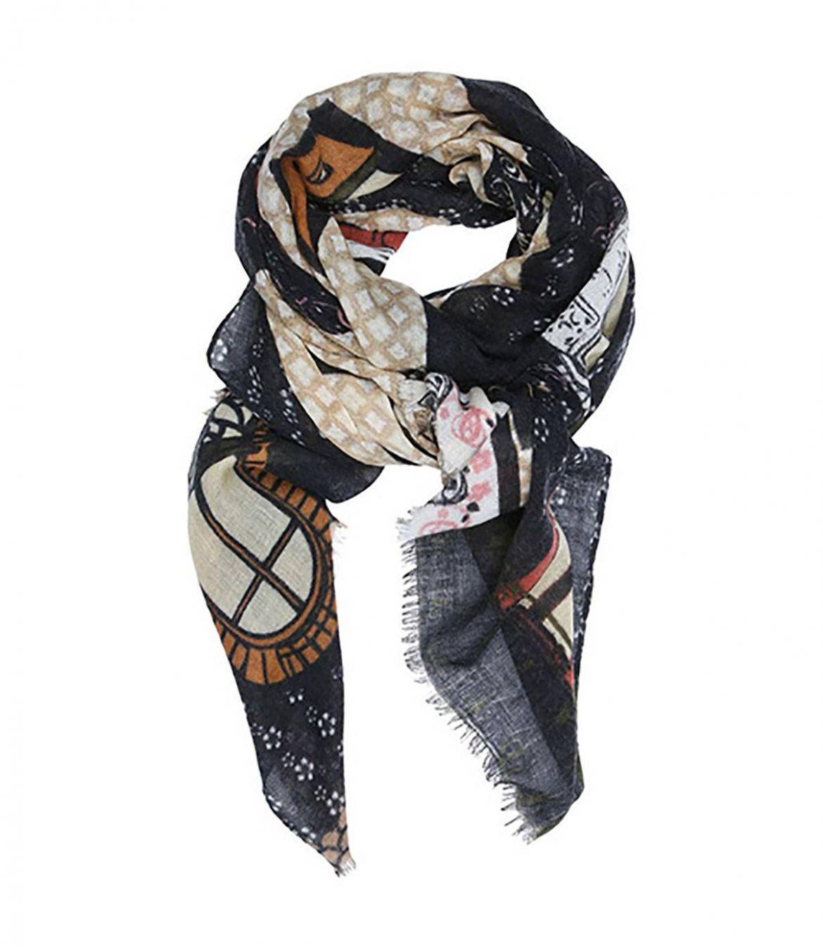 FRONT Women's Wool Scarf 80x190 cm Storiatipic - 1