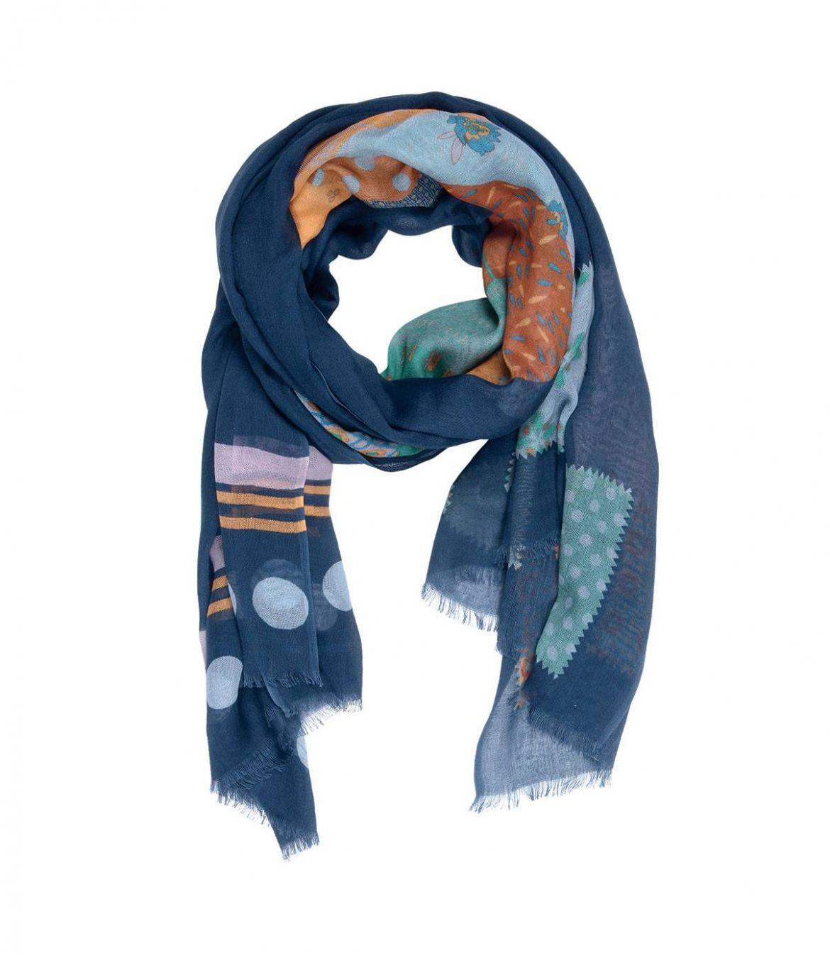 ROSACE Foulard en Modal, Coton pour Femme 100x200 cm - 1