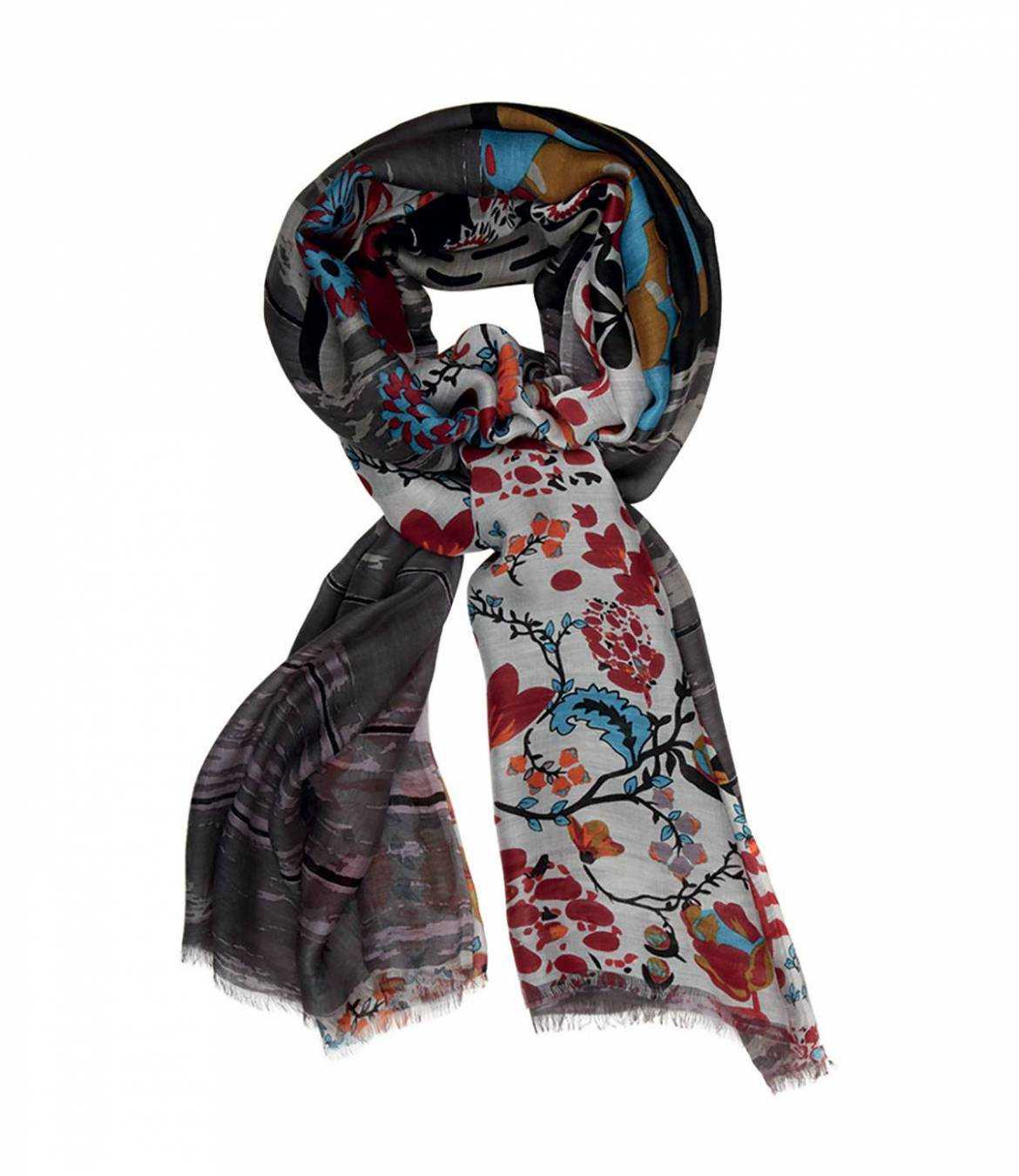SENTOR Cotton scarf, Women's Silk 100x200 cm Storiatipic - 1