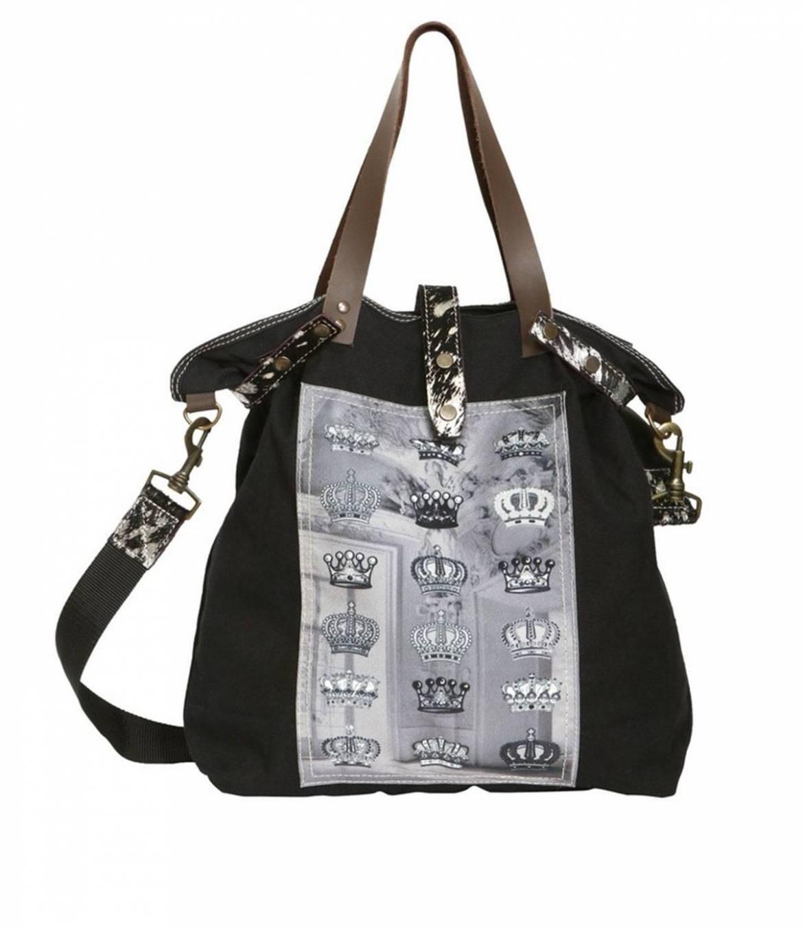 TOTE 17 Sac en Coton, Cuir, Polyester pour Femme 45x30 cm Storiatipic - 1