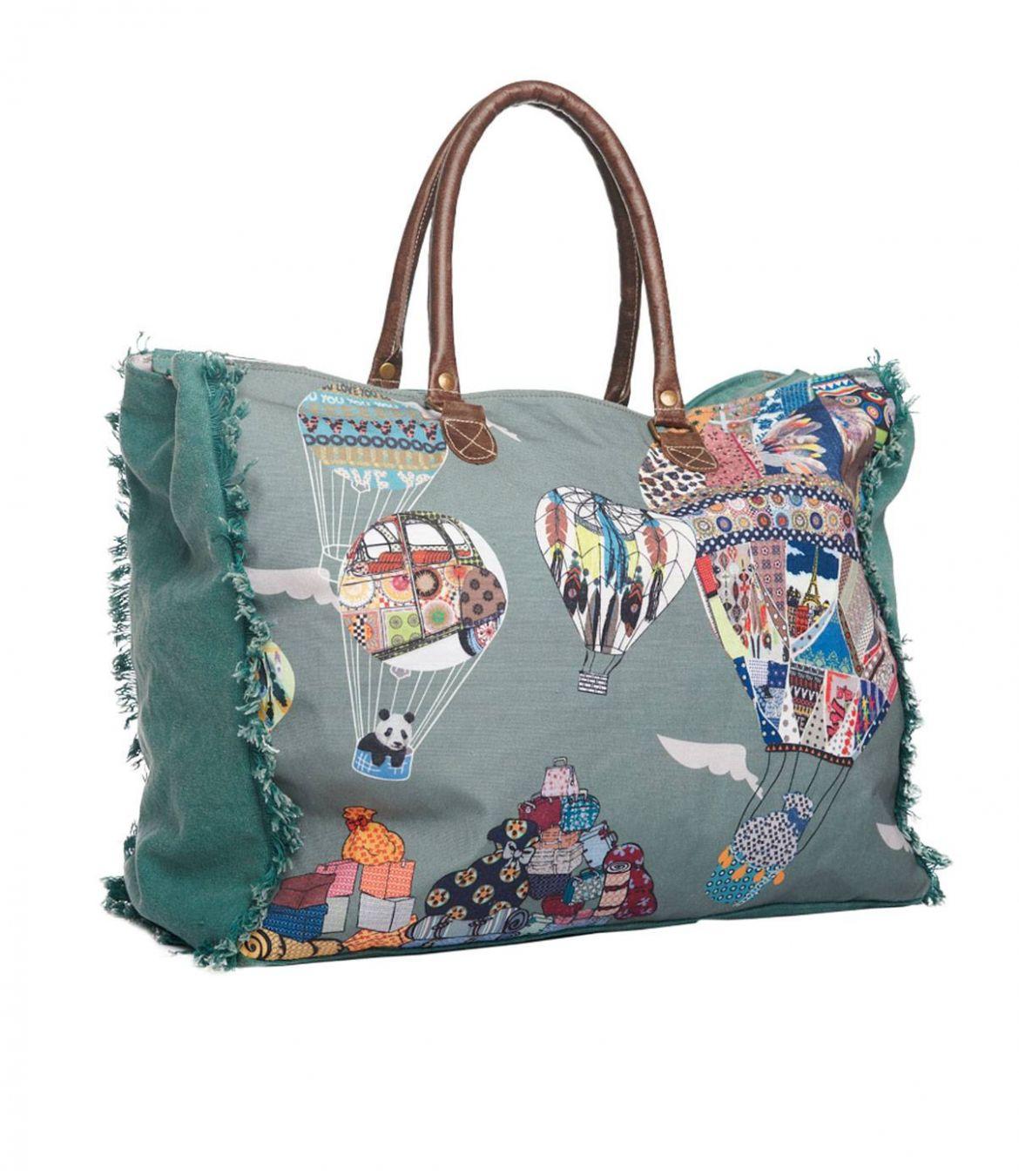 TRAVEL Sac de voyage en Polyester, Coton, Cuir pour Femme 50x40x20 cm - 1