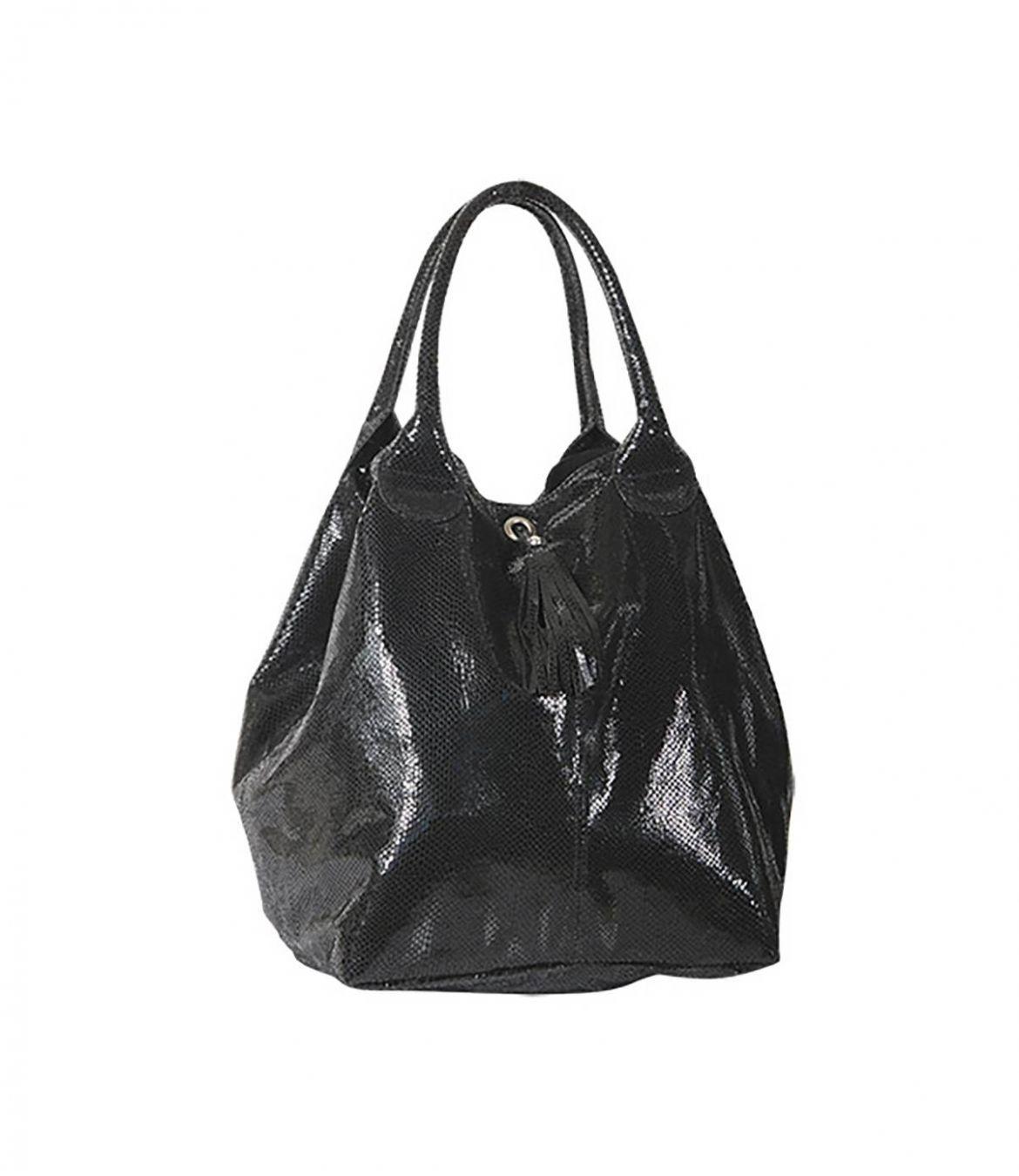 SORBET SHINY Women's Leather Bag 35x55 cm Storiatipic - 1