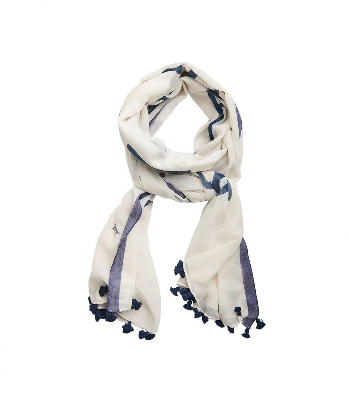 INO Women's Cotton Scarf 100x200 cm Storiatipic - 1