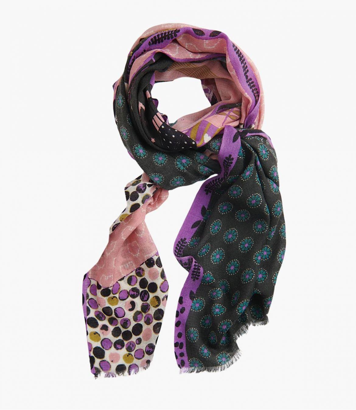 AIMEE Echarpe en Laine, Cachemire, Soie pour Femme 80x190 cm - 1