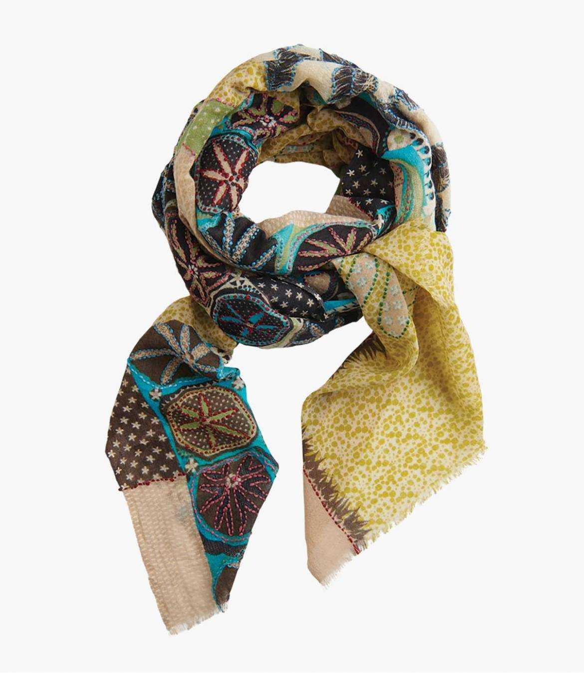 CALME Wool scarf, Cotton for Women 100x200 cm Storiatipic - 1