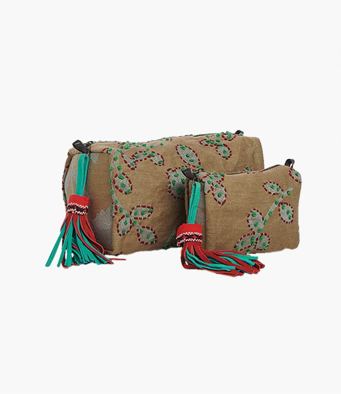 COSM Trousse en Polyester, Coton, Cuir pour Femme 30x14x15 cm et 20x8x12 cm Storiatipic - 1