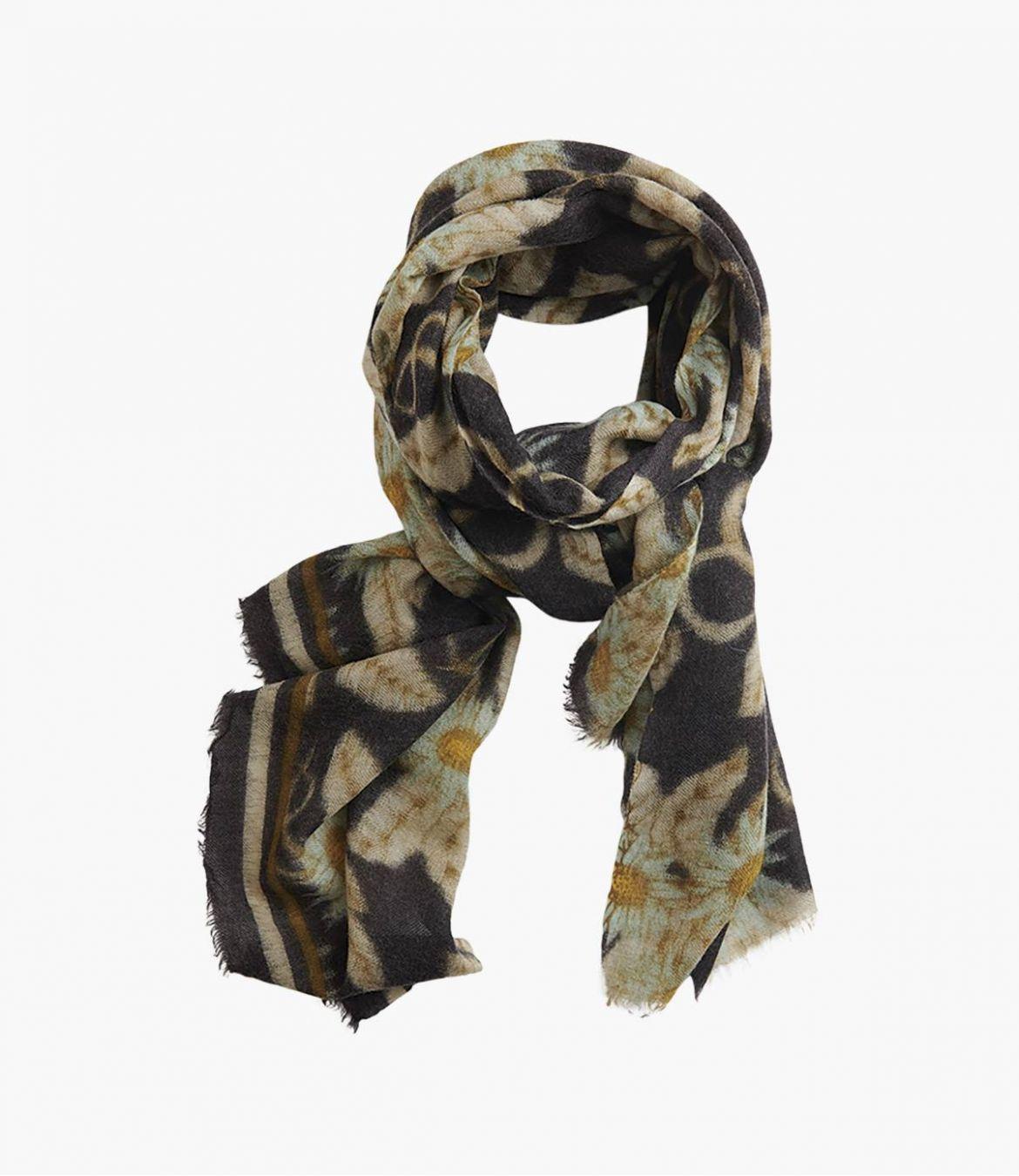 FLEURIE Women's Wool Scarf 70x190 cm Storiatipic - 1
