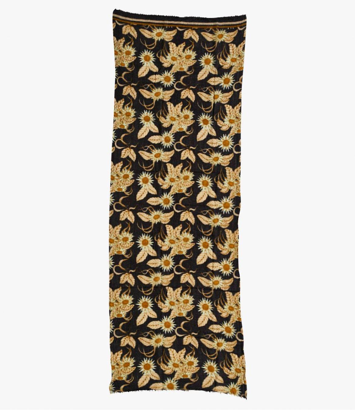 FLEURIE Women's Wool Scarf 70x190 cm Storiatipic - 2