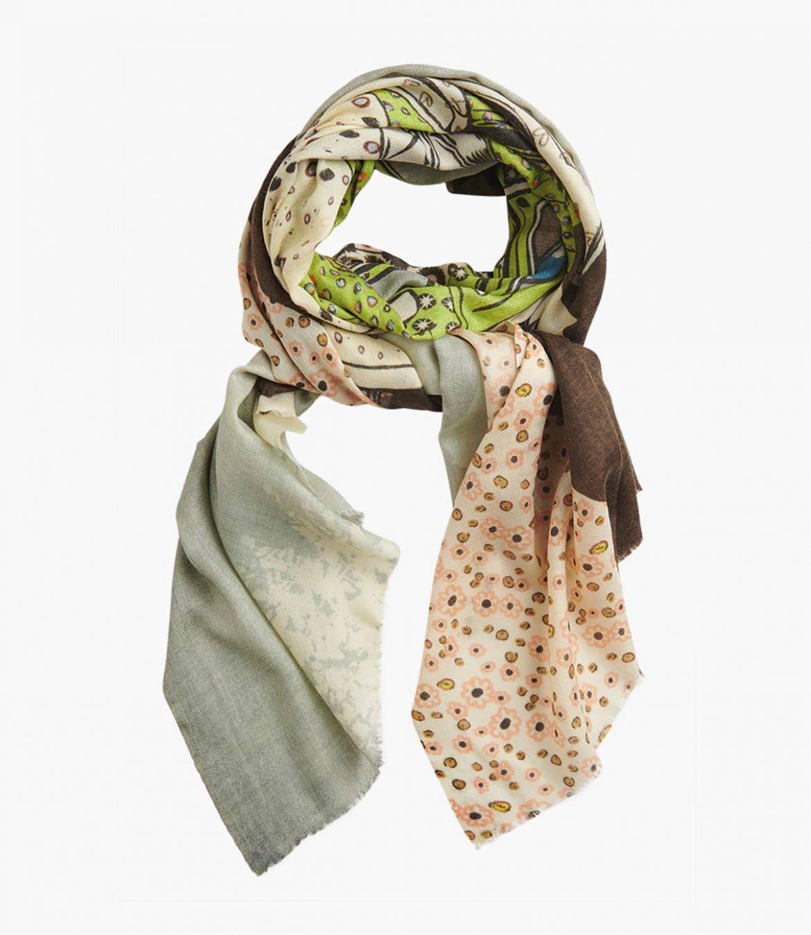 FREE Wool scarf, Women's Silk 70x190 cm Storiatipic - 1