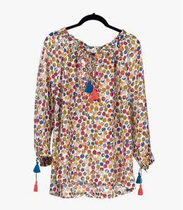 BETI DOT Cotton Blouse for Women Storiatipic - 1