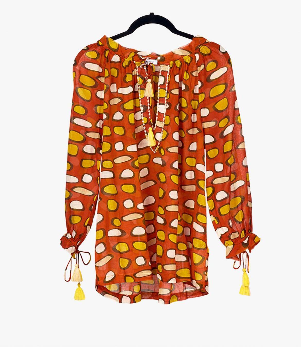 BETI GALET Cotton Blouse for Women Storiatipic - 2