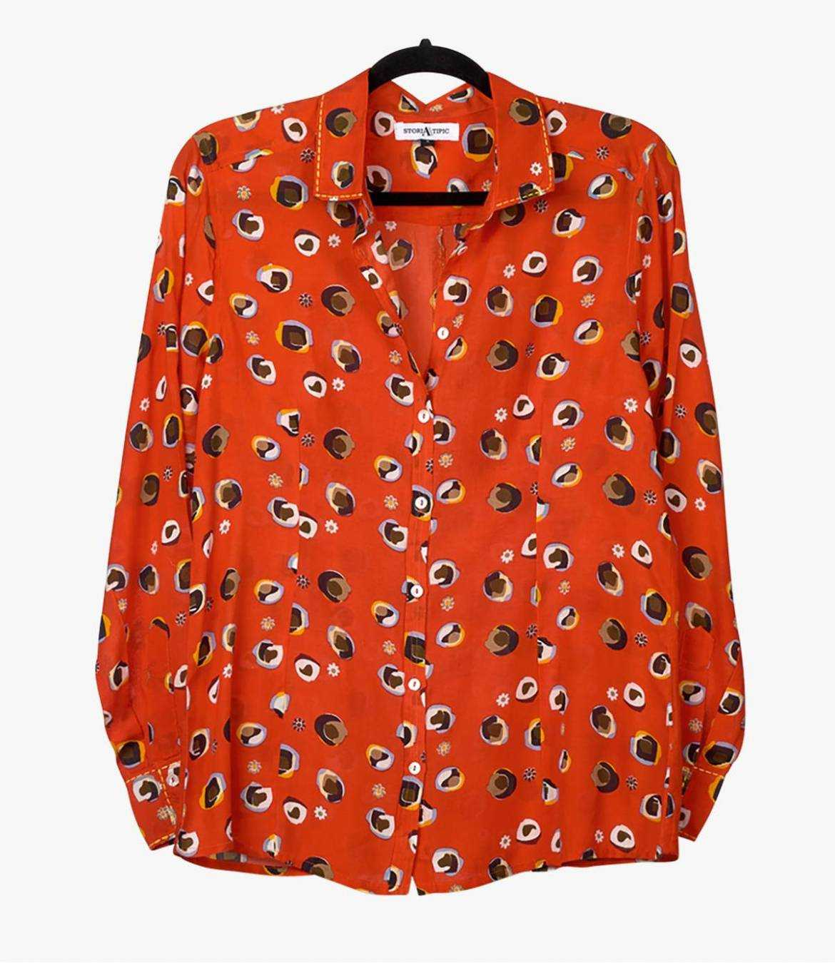 BONI BULLE Women's Modal Shirt Storiatipic - 2