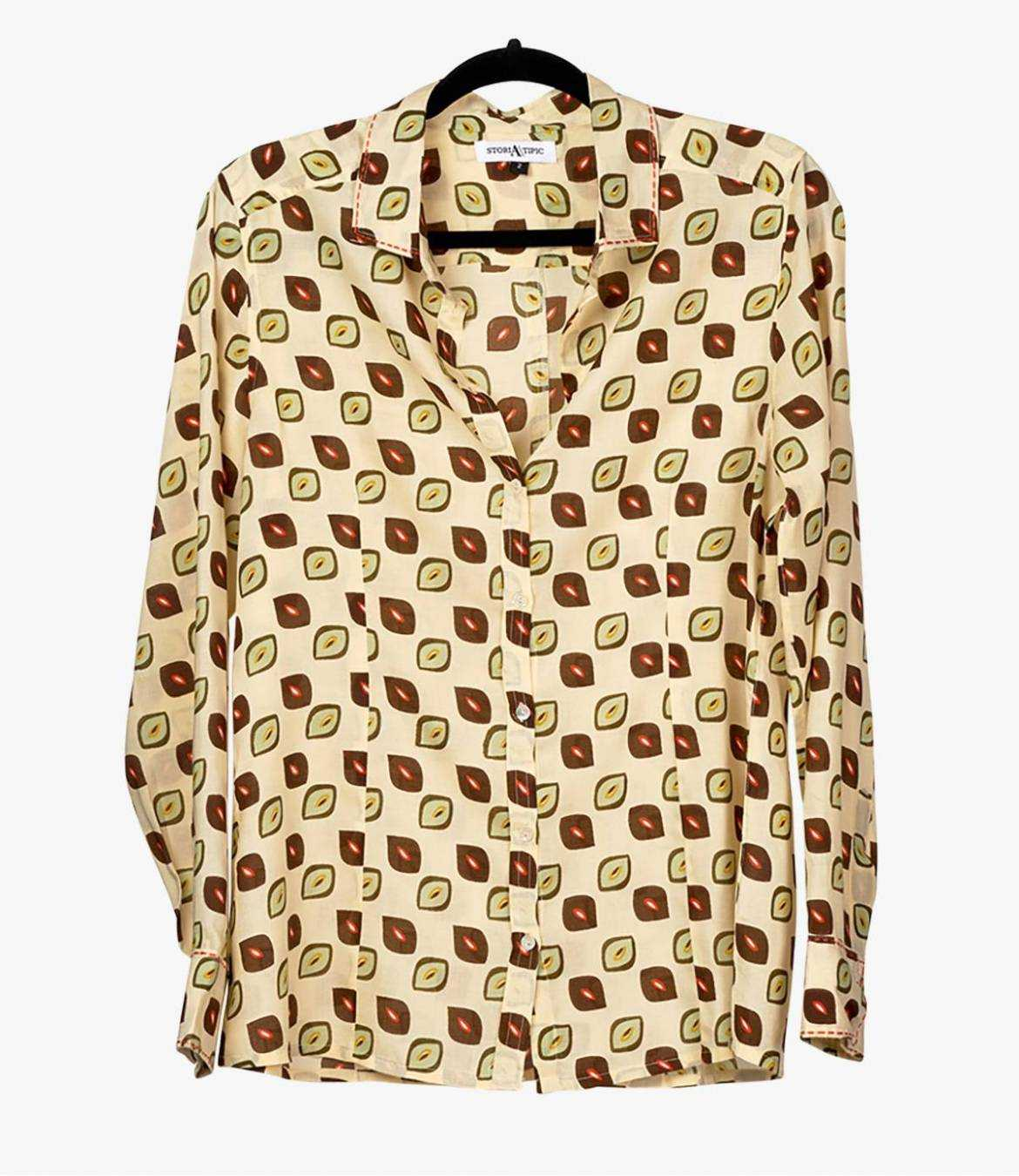 BONI CAFE Women's Modal Shirt Storiatipic - 2