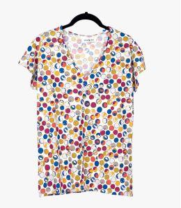 EVI DOT T-shirt en Coton, Modal pour Femme Storiatipic - 1