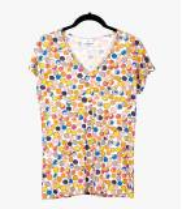 EVI DOT T-shirt en Coton, Modal pour Femme Storiatipic - 2