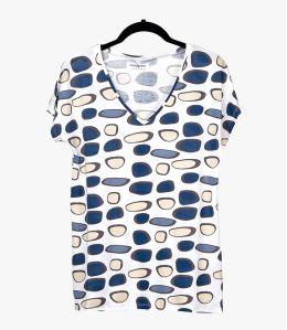 EVI GALET Cotton T-shirt, Women's Modal Storiatipic - 1