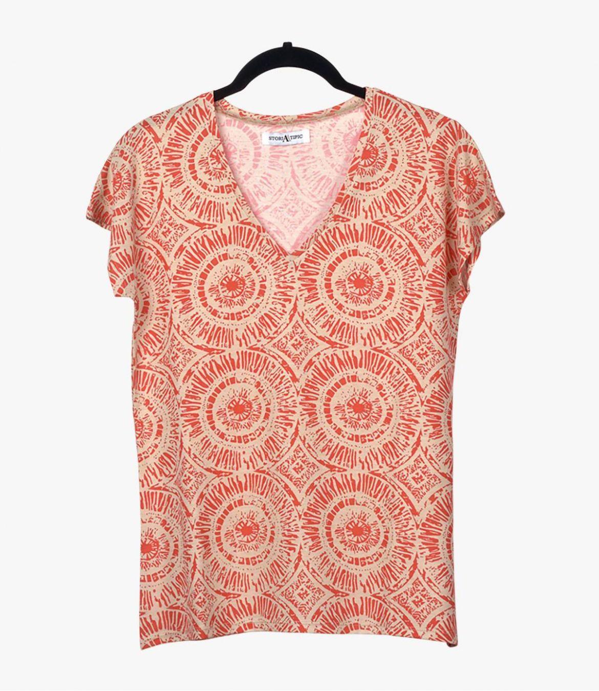 EVI SUN T-shirt en Coton, Modal pour Femme Storiatipic - 2