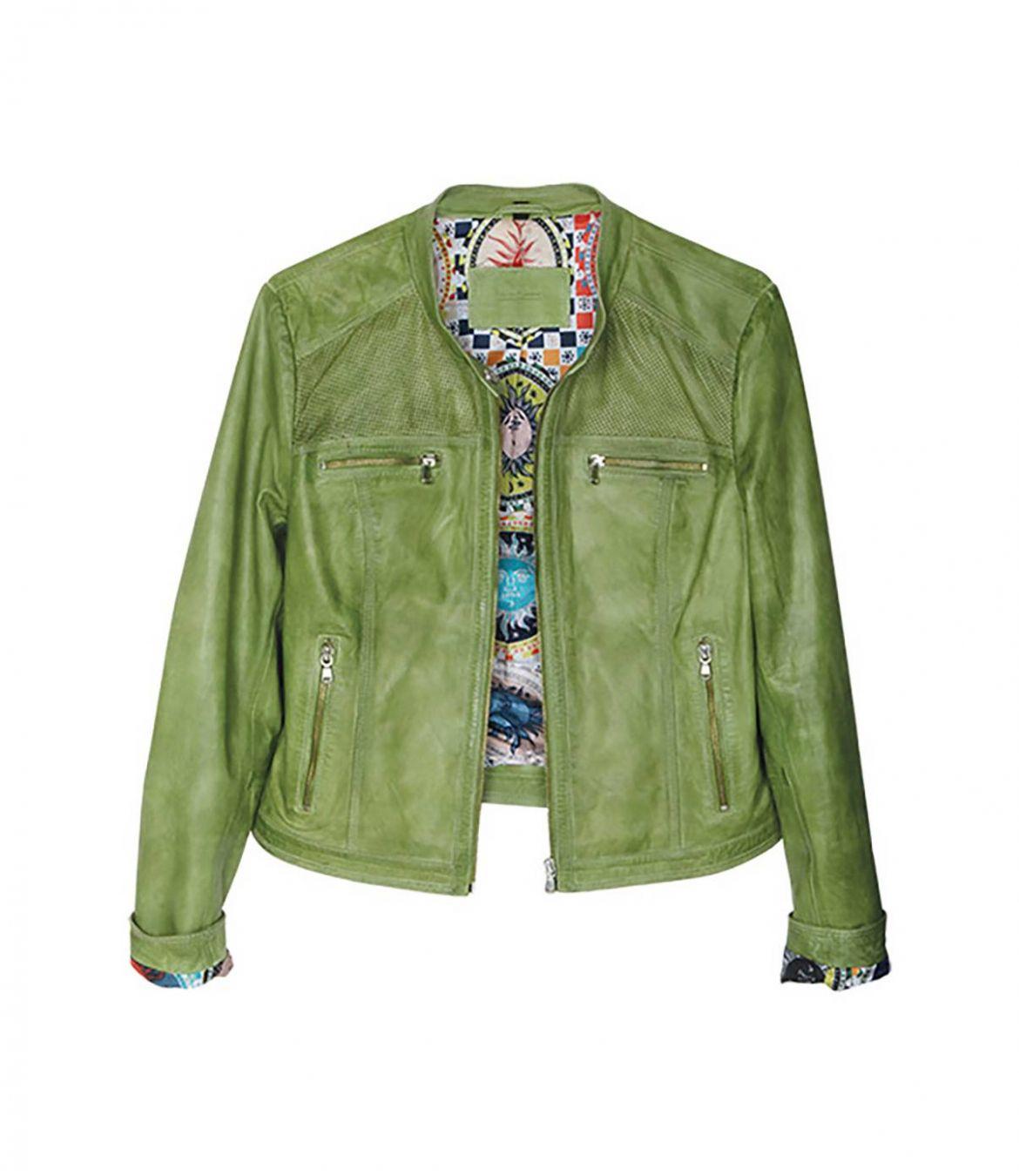 BERGAMOTE Women's Leather Jacket Storiatipic - 1