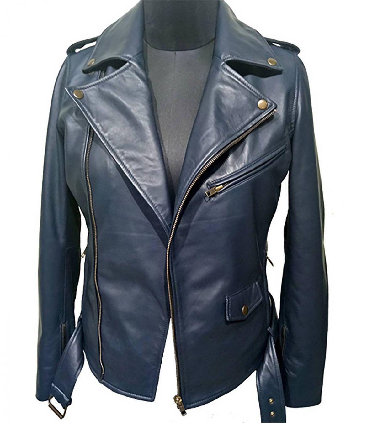 PERFECTO Women's Leather Jacket Storiatipic - 1